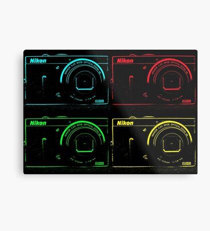 Nikon x 4 (PopArt) Metal Print