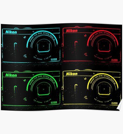 Nikon x 4 (PopArt) Poster