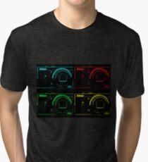 Nikon x 4 (PopArt) Tri-blend T-Shirt