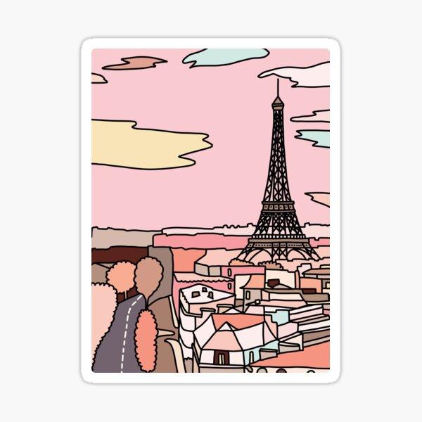 Paris sunset by Sasa Elebea Sticker