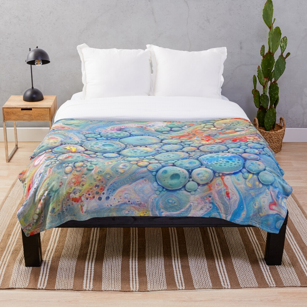 Abstraction #B Throw Blanket