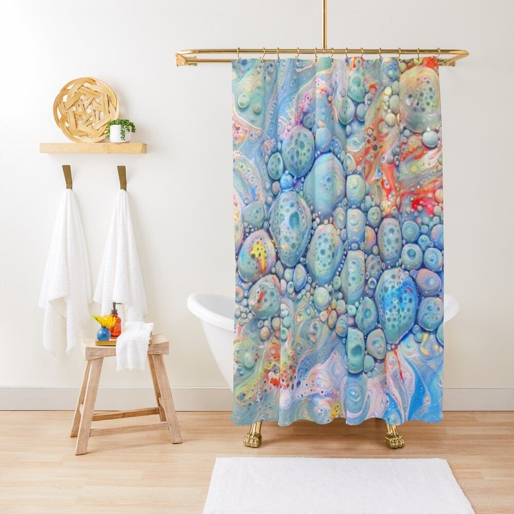 Abstraction #B Neural Networks Shower Curtain