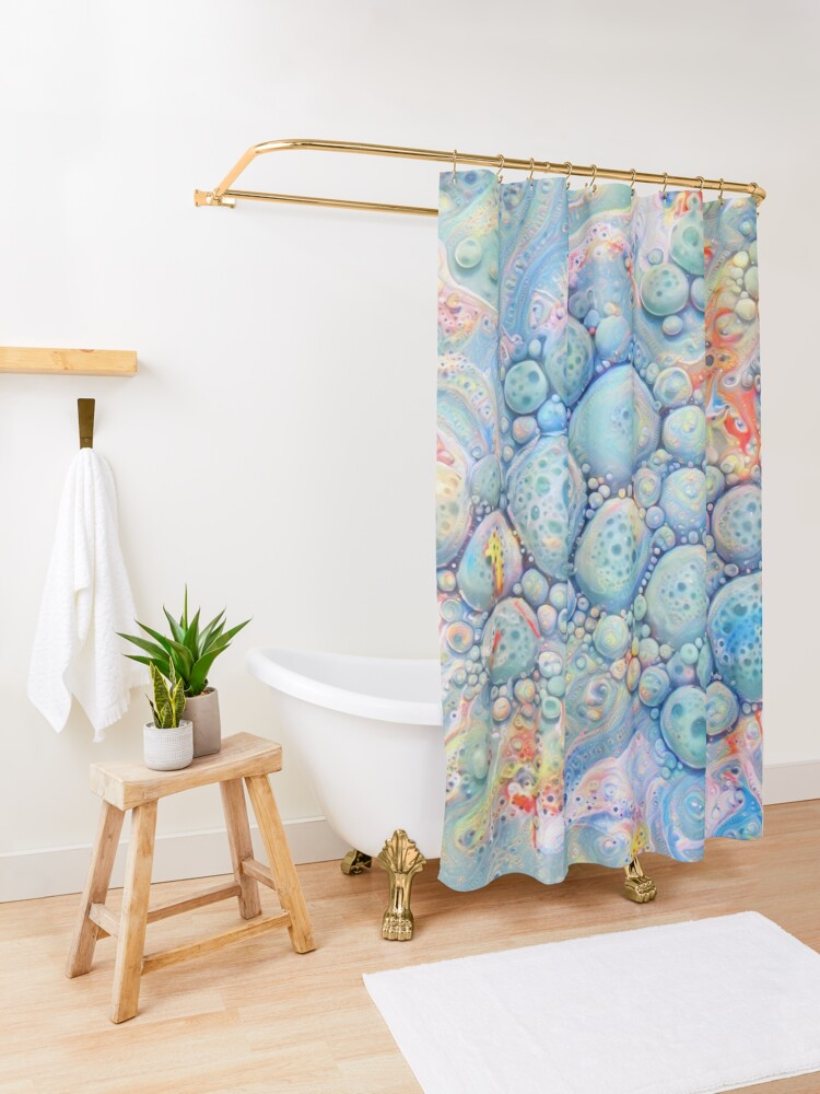 Alternate view of Abstraction #B Neural Networks Shower Curtain