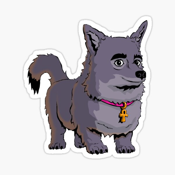 Anubis The Dog Smiles Sticker