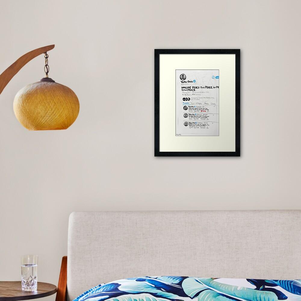 Three Consecutive Tweets by Yoko Ono Framed Art Print