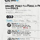 Three Consecutive Tweets by Yoko Ono by mijumi