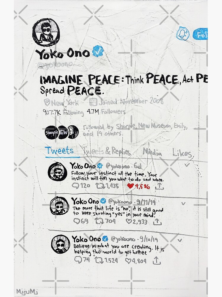 Three Consecutive Tweets by Yoko Ono by mijumi