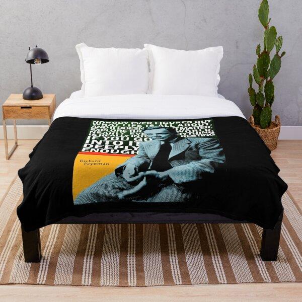 Richard Feynman Throw Blanket