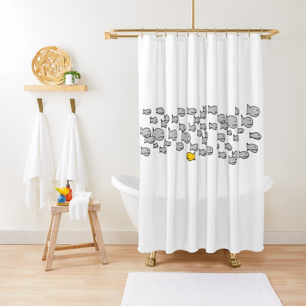 Be Different - School of Fish Shower Curtain