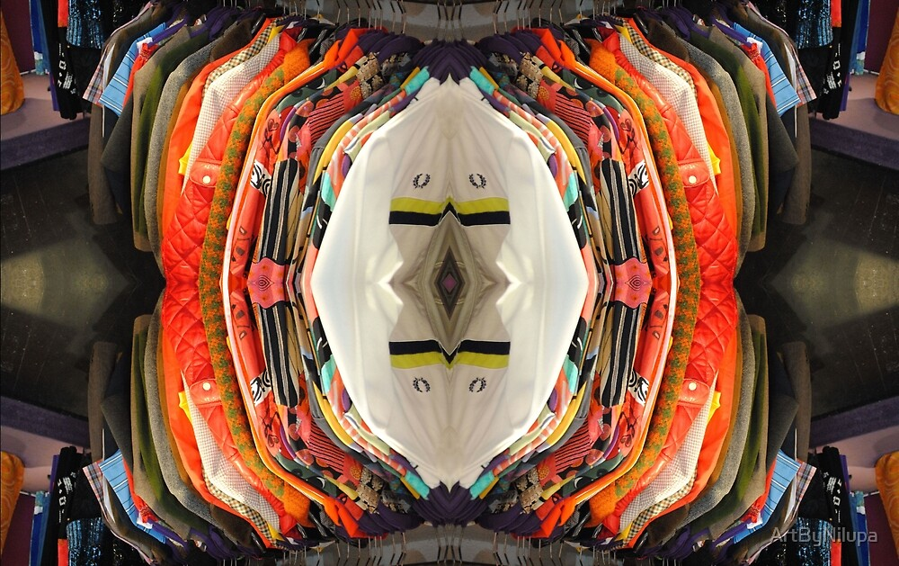 orange diamond  by ArtByNilupa