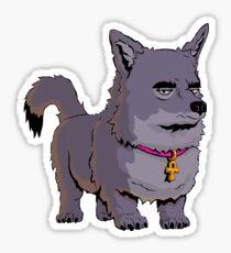 Anubis The Dog Frowns Sticker