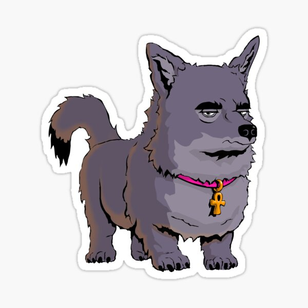 Anubis The Dog Frowns Sticker