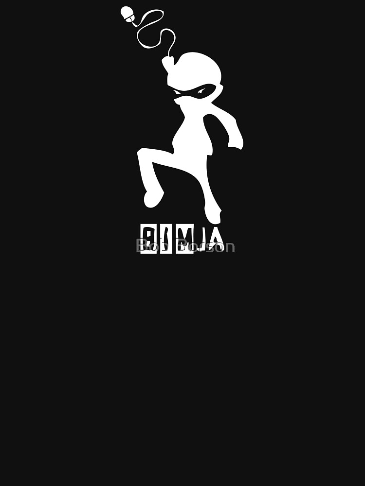 BIMja - The Architectural Ninja (for black shirts) by bobborson
