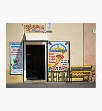 Gelateria in Sardinia Photographic Print