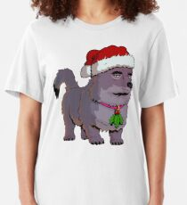 'Anubis: Dog of Death' Christmas Slim Fit T-Shirt