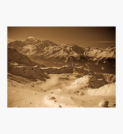 Verbier: Golden Moments of a Ski Adventure Photographic Print