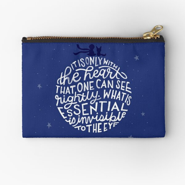 It Is Only With The Heart That One Can See Rightly Zipper Pouch