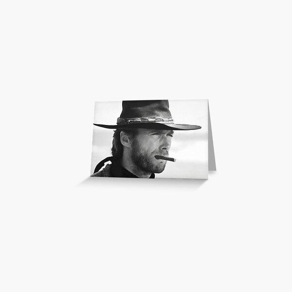 Clint Eastwood, cigarro, fotografía en blanco y negro Tarjetas de felicitación