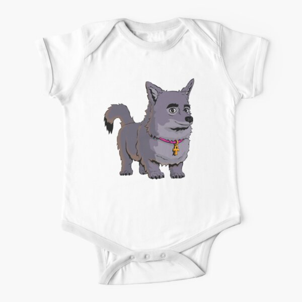 Anubis The Dog Smiles Short Sleeve Baby One-Piece