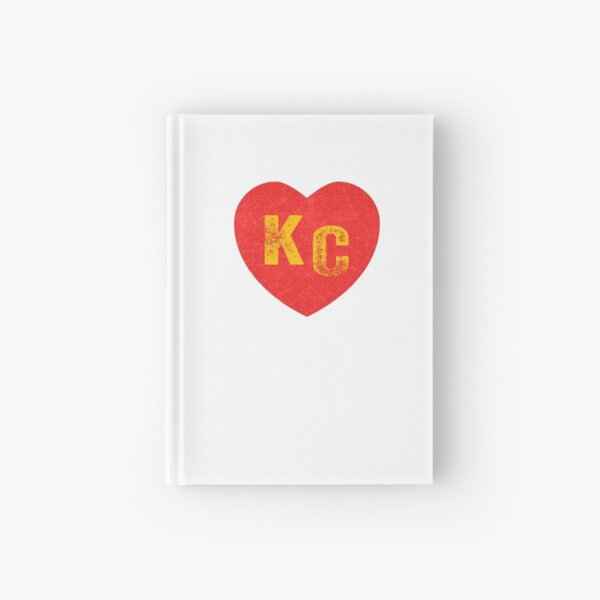 KC Heart Kansas City Hearts I love Kc heart monogram KC Face mask Kansas City facemask Hardcover Journal