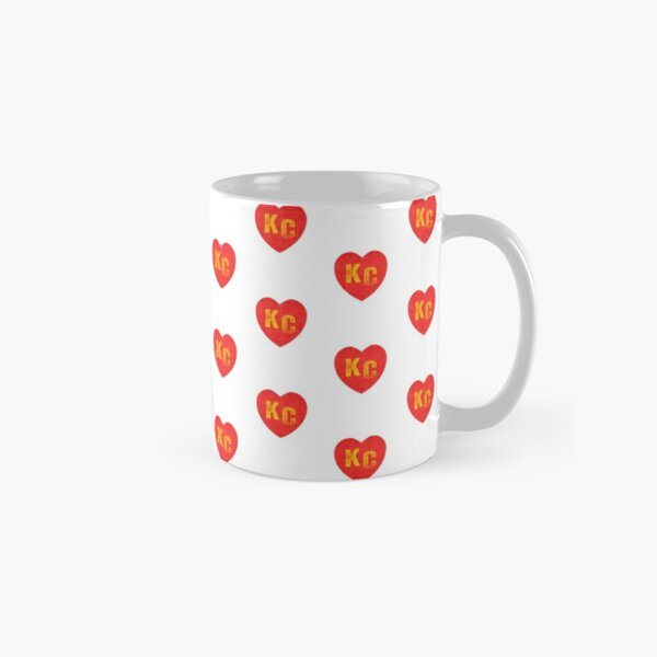 KC Heart Kansas City Hearts I love Kc heart monogram KC Face mask Kansas City facemask Classic Mug