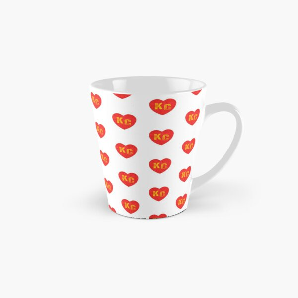 KC Heart Kansas City Hearts I love Kc heart monogram KC Face mask Kansas City facemask Tall Mug