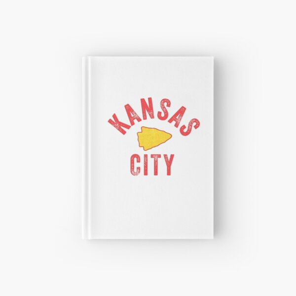 KC Football Tribal Gear Arrowhead Kansas City Vintage Kc Fan Local Pro Gear KC Face mask Kansas City facemask Hardcover Journal
