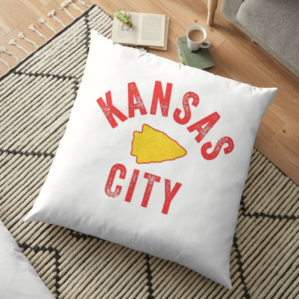 KC Football Tribal Gear Arrowhead Kansas City Vintage Kc Fan Local Pro Gear KC Face mask Kansas City facemask Floor Pillow