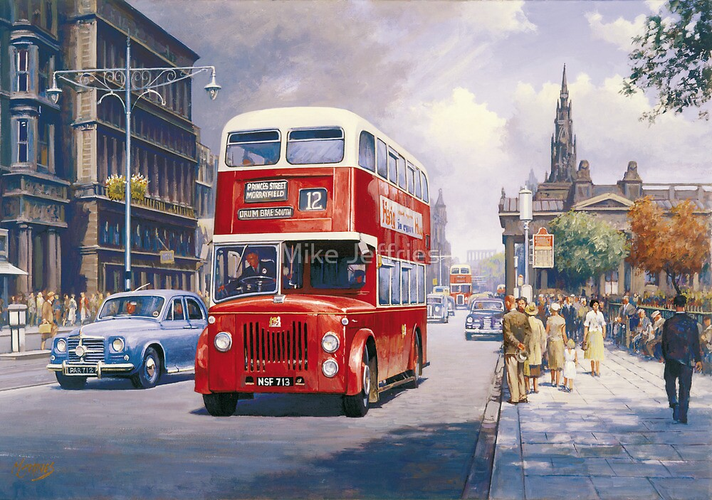 Endinburgh Princes Street by Mike Jeffries