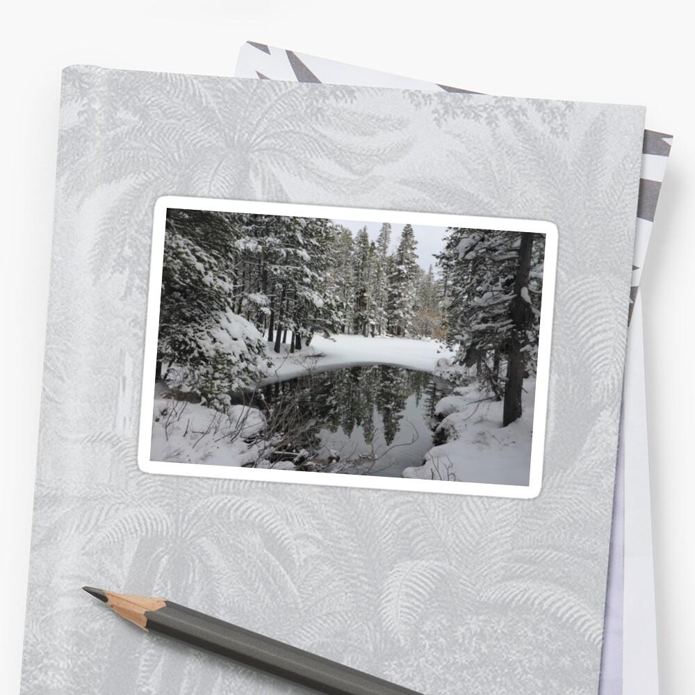 Snowy Pond Sticker