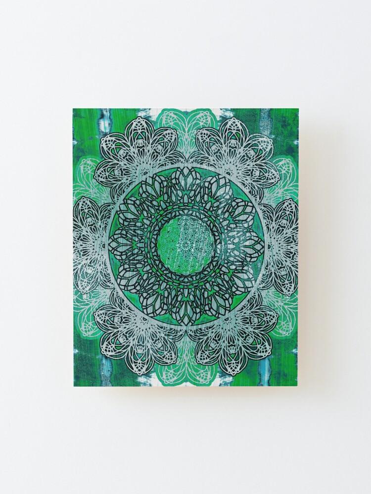 Alternate view of Celtic Mandala Shibori Mounted Print