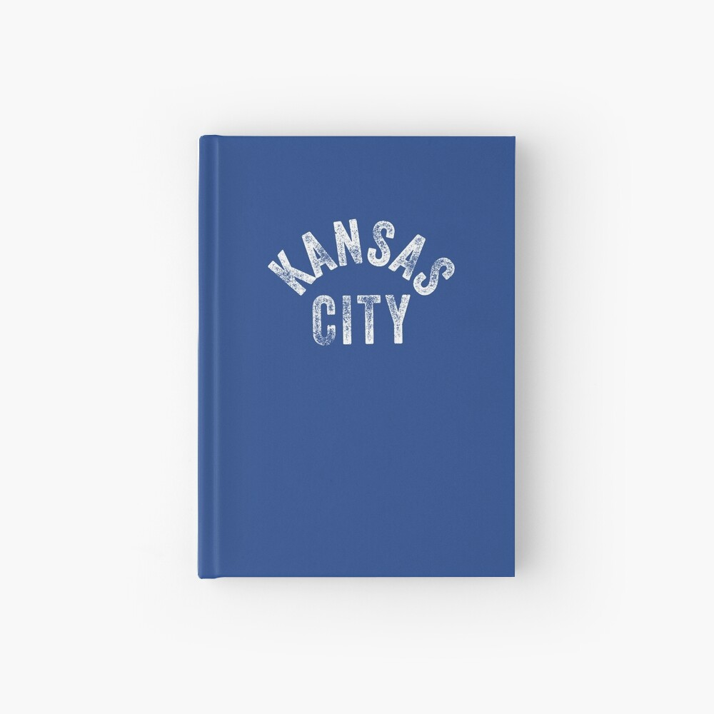 KC Royal Blue Classic Kansas City Vintage Local Kc Baseball Fan Gear Kansas city KC Face mask Kansas City facemask Hardcover Journal