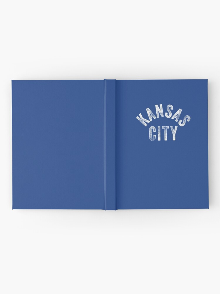 Alternate view of KC Royal Blue Classic Kansas City Vintage Local Kc Baseball Fan Gear Kansas city KC Face mask Kansas City facemask Hardcover Journal