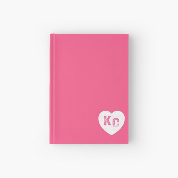 Pink Kansas City KC Heart Collection I Love Kc Hearts KC Face mask Kansas City facemask Hardcover Journal