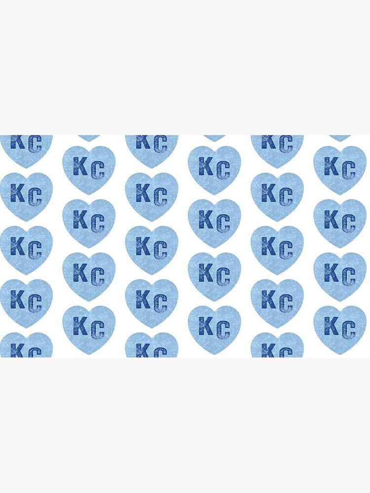 Baby Blue KC Heart Kansas City Hearts I Love Kc heart Kansas city KC Face mask Kansas City facemask by kcfanshop