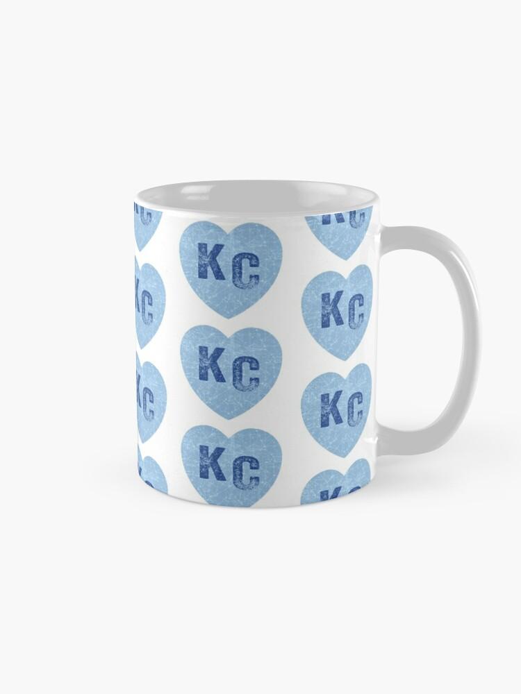 Alternate view of Baby Blue KC Heart Kansas City Hearts I Love Kc heart Kansas city KC Face mask Kansas City facemask Mug