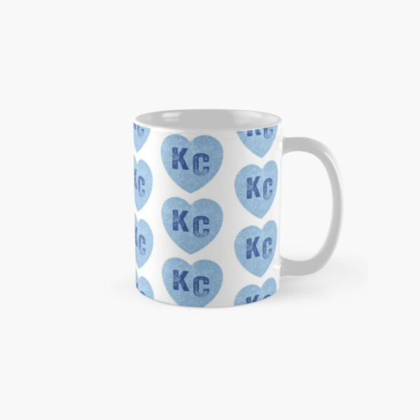 Baby Blue KC Heart Kansas City Hearts I Love Kc heart Kansas city KC Face mask Kansas City facemask Classic Mug