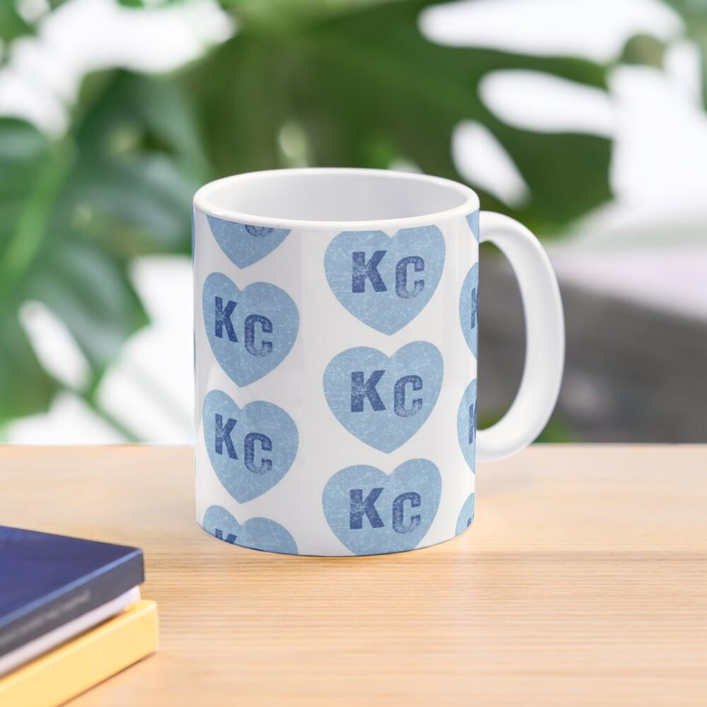 Baby Blue KC Heart Kansas City Hearts I Love Kc heart Kansas city KC Face mask Kansas City facemask Mug