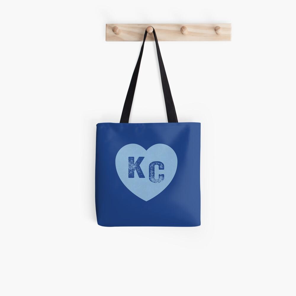Baby Blue KC Heart Kansas City Hearts I Love Kc heart Kansas city KC Face mask Kansas City facemask Tote Bag