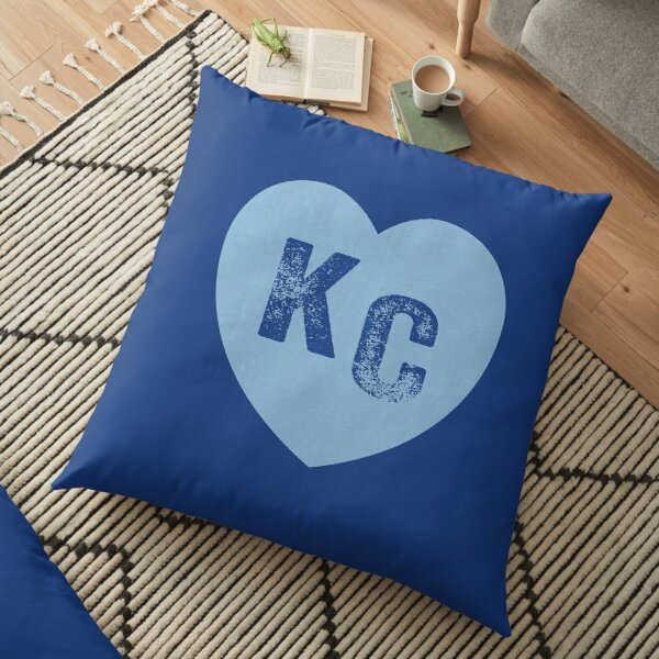 Baby Blue KC Heart Kansas City Hearts I Love Kc heart Kansas city KC Face mask Kansas City facemask Floor Pillow