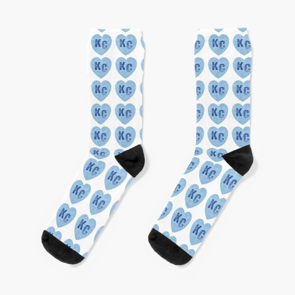 Baby Blue KC Heart Kansas City Hearts I Love Kc heart Kansas city KC Face mask Kansas City facemask Socks