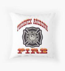 Phoenix Fire Department Throw Pillow