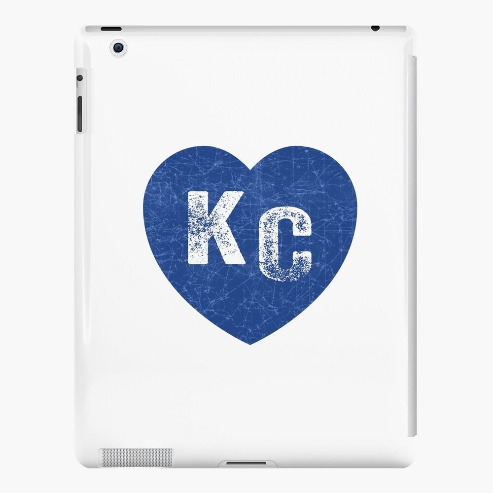 Royal Blue KC Blue Heart Kansas City Hearts I Love Kc heart Kansas city KC Face mask Kansas City facemask iPad Case & Skin