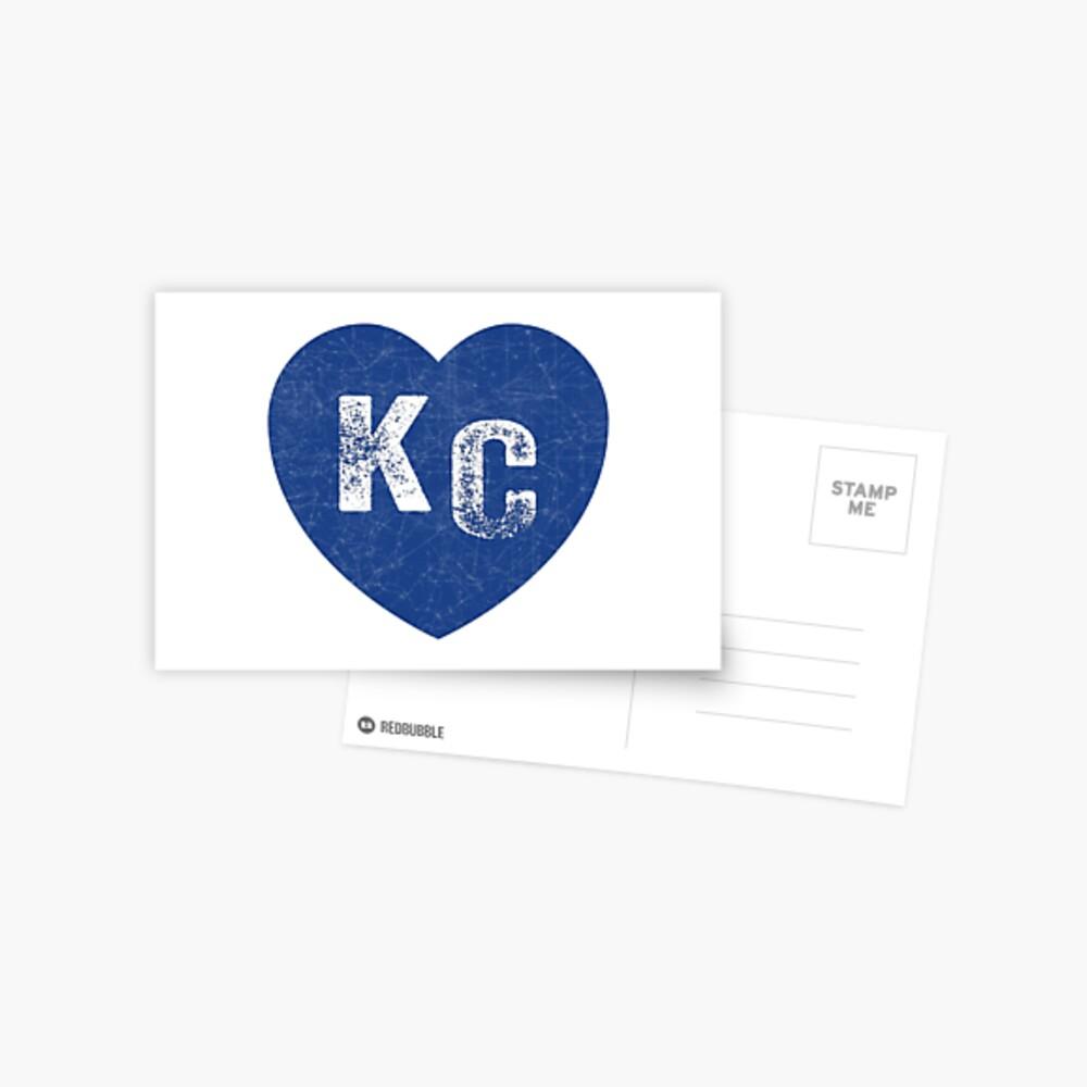 Royal Blue KC Blue Heart Kansas City Hearts I Love Kc heart Kansas city KC Face mask Kansas City facemask Postcard