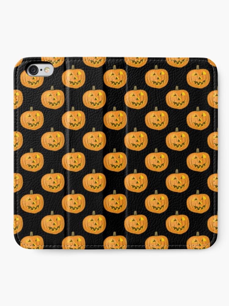 Alternate view of Happy Halloween Pumpkin iPhone Wallet
