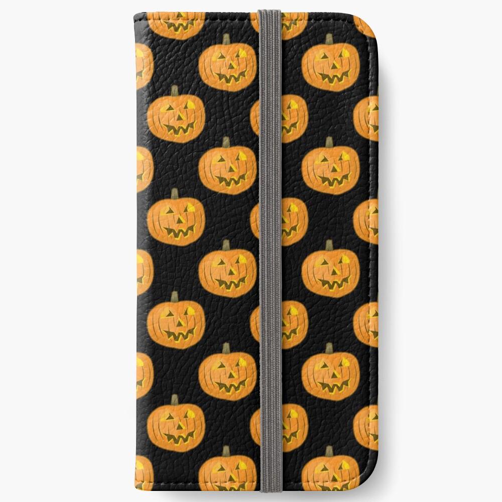 Happy Halloween Pumpkin iPhone Wallet