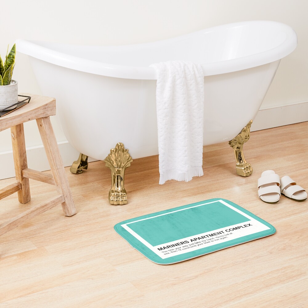 """Mariners Apartment Complex Keychain: """"Mariners Apartment Complex Pantone Swatch"""" Bath Mat By"""