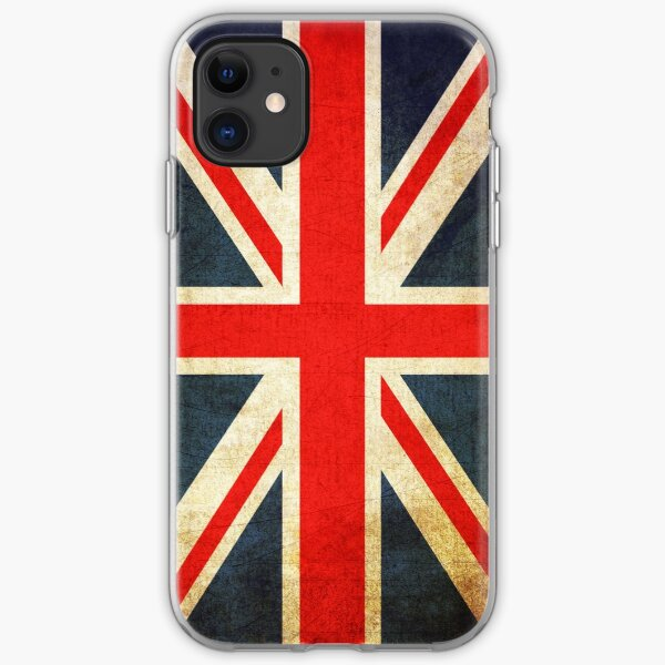 Grunge Effect Union Jack iPhone Soft Case