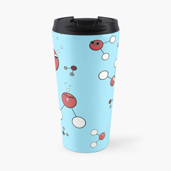 Stay Hydrated - Water Molecules Travel Mug