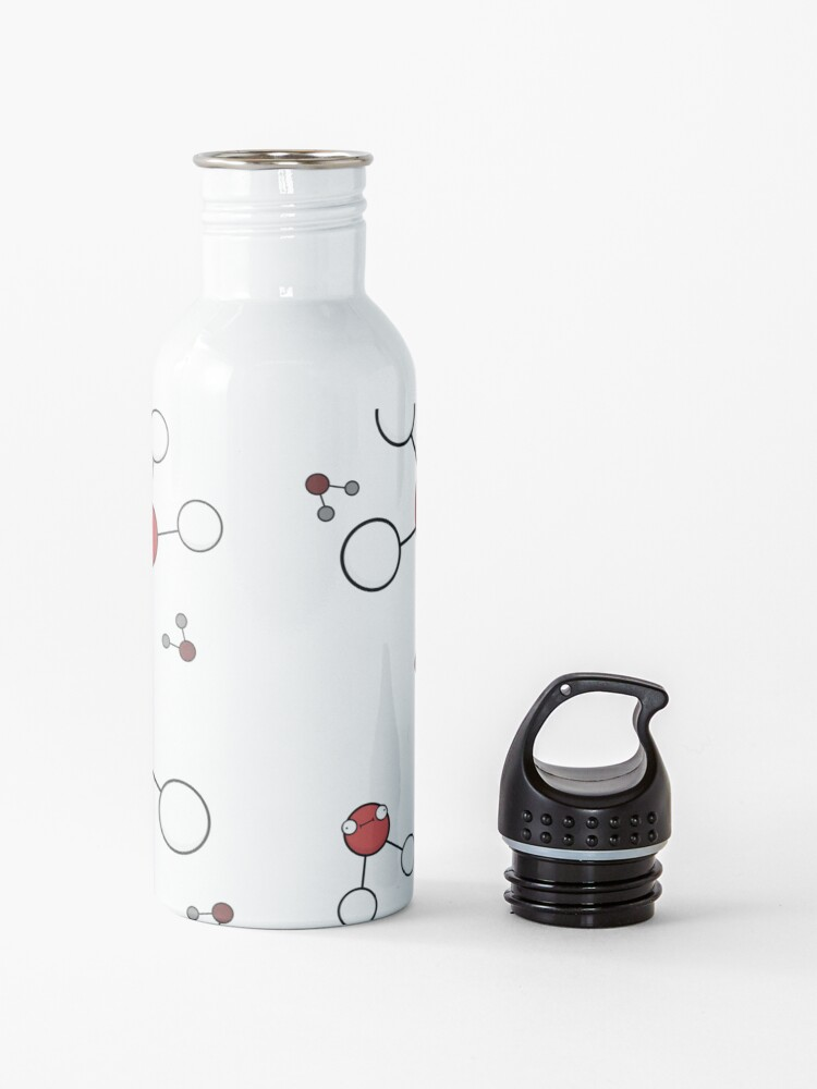Alternate view of Stay Hydrated - Water Molecules Water Bottle